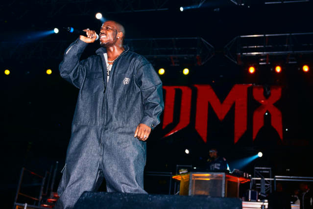 DMX performs at the Hard Knock Life Tour at the Continental Airlines Arena. (Photo: Mitchell Gerber/Corbis/VCG via Getty Images)