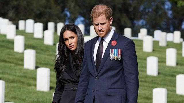 meghan markle prince harry remembrance day